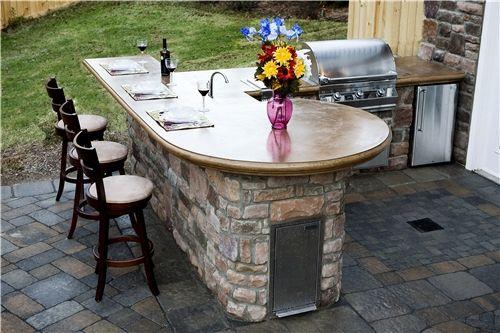 Outdoor Concrete Countertops  Outdoor Kitchen  Mid Atlantic Enterprise Inc  Williamsburg, VA