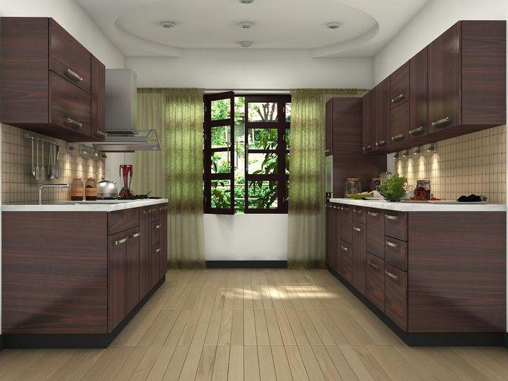 brown modular kitchen design ideas parallel shaped modular kitchen designs pinterest brown on kitchen interior parallel id=63900