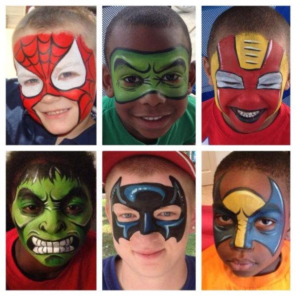 Best 25+ Superhero face painting ideas on Pinterest