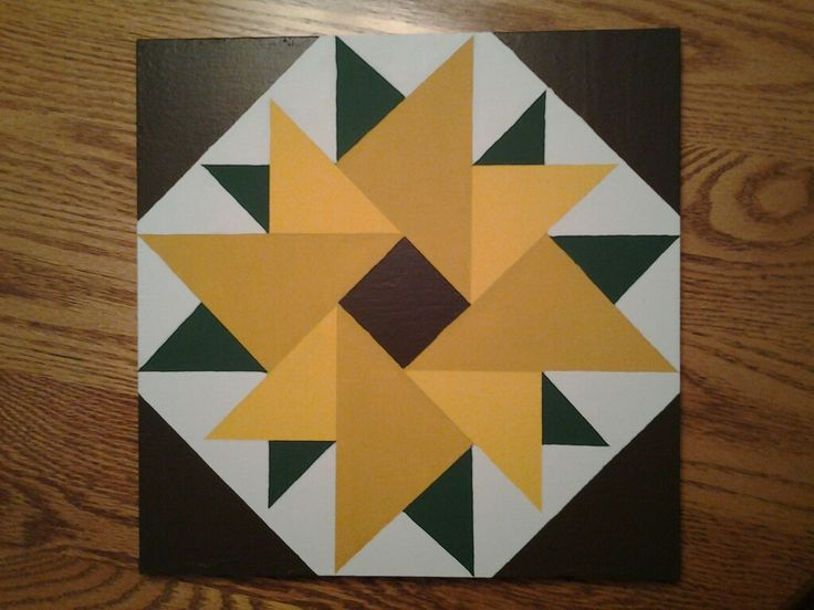 Sunflower Barn Quilt Pattern Simple