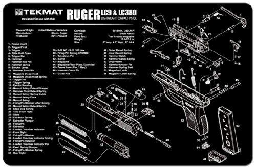 Tekmat Ruger Lc9 Pistol Gun Cleaning Mat Black Tekmat