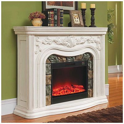62 Grand White Electric Fireplace At Big Lots Pinteres