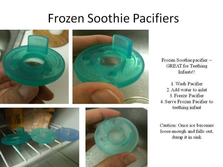 Frozen soothie pacifiers diy teether for baby
