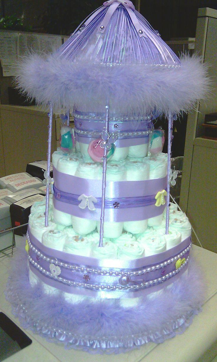 Carousel Diaper Cake Diaper Cake Pinterest Cakes