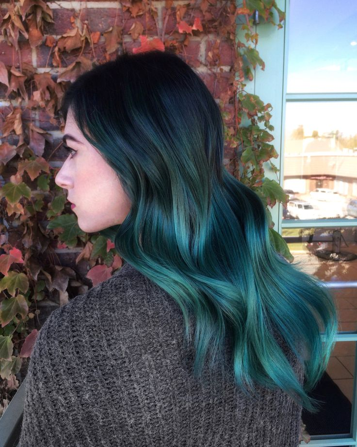 Best 25 Teal Ombre Hair Ideas On Pinterest