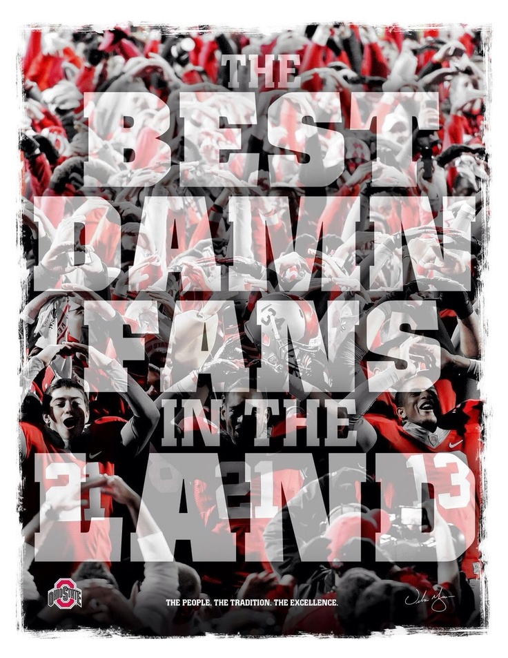 OHIO STATE BUCKEYES HAVE THE LARGEST FAN FOLLOWING AND WE