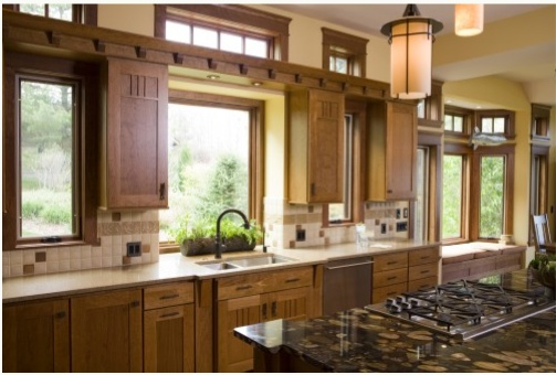 17 best images about prairie style kitchen on pinterest style cabinets and built in storage on kitchen cabinets around window id=79266