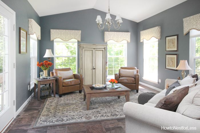 Charcoal Gray Sun Room Colors Sun And Gray