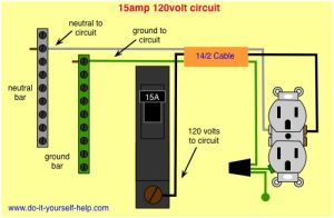 wiring diagram 15 amp circuit breaker 120 volt circuit