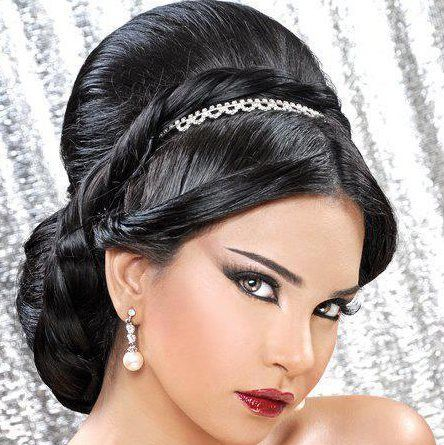 26 best images about arabic wedding hair style on pinterest
