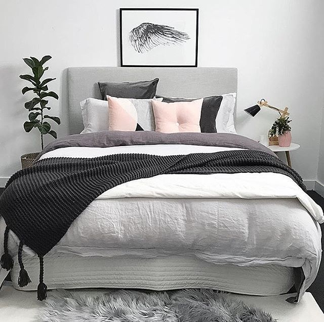 The Pretty Bedroom Of Sheree Myhouseloves Featuring Our Blush On Cushion
