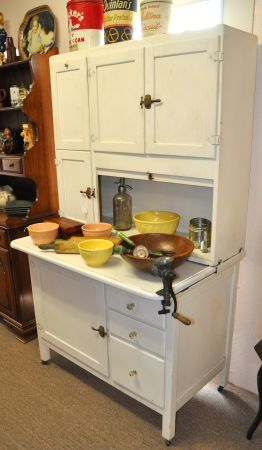 hoosier cabinet for the kitchen – I want one….just like my mom has always want