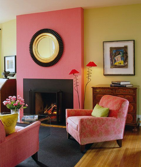 pink yellow wall color living room home paint on paint combinations for interior walls id=44409