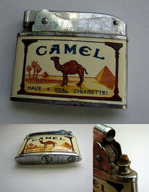 Vintage Lighter Penguin Camel Advertising By