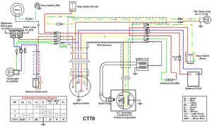 72 wiring diagram | Honda CT70 | Pinterest