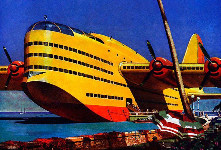 A flying cruise ship didnt howard hughes build
