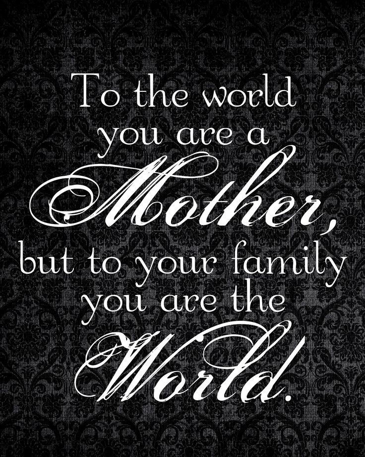 Beautiful quote about motherhood. Set the example for your children so that they