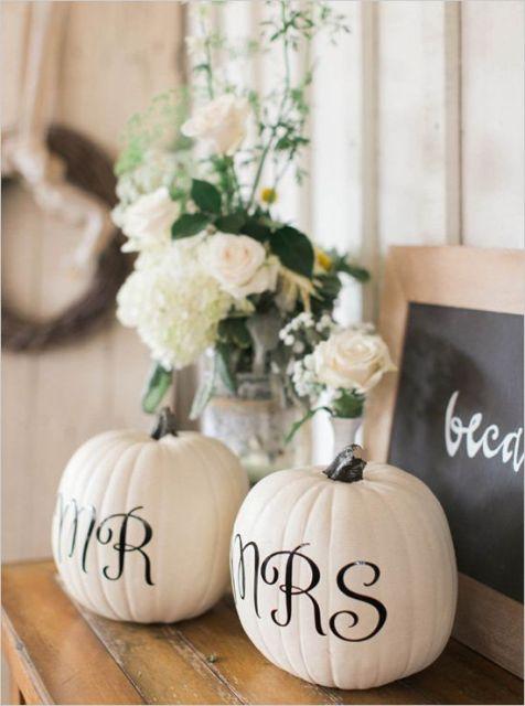 mr and mrs pumpkins: