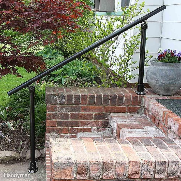 Make A Home Safe For Older Folks Pipe Connectors Exterior Stairs And Stair Railing | Installing Railing On Stone Steps