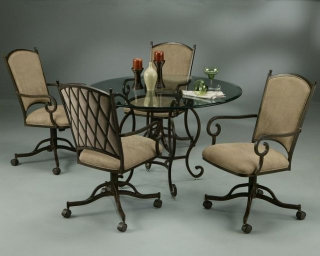 Dinette Sets Rolling Chairs Kitchen Best