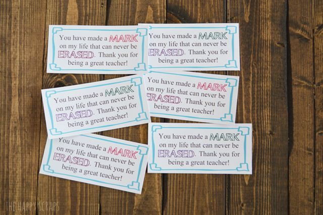 Dry Erase Marker Teacher Appreciation Gift The Happy