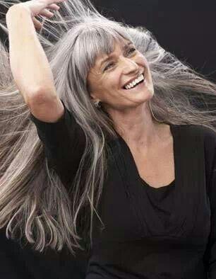 long grey hair grey hair and look older on pinterest
