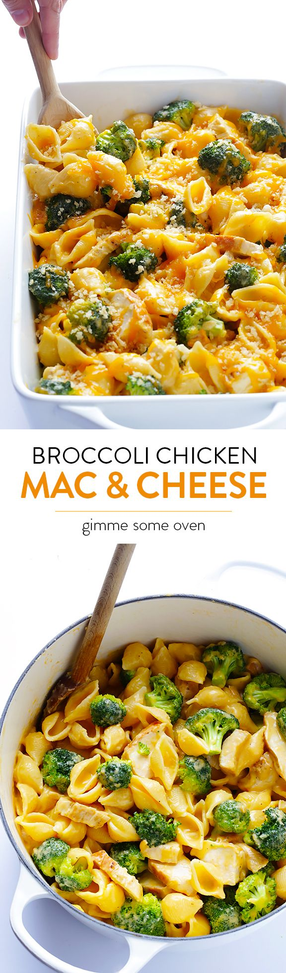Broccoli Chicken Mac & Cheese – Easy to make, super tasty, and you can serve it stovetop-style or baked.