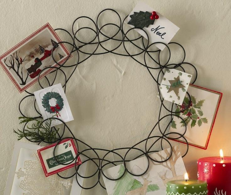 Spiral Wreath Christmas Card Holder Christmas Sweet