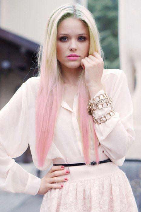 Pastel Hair Rosa Spitzen Pastell Haare Pinterest