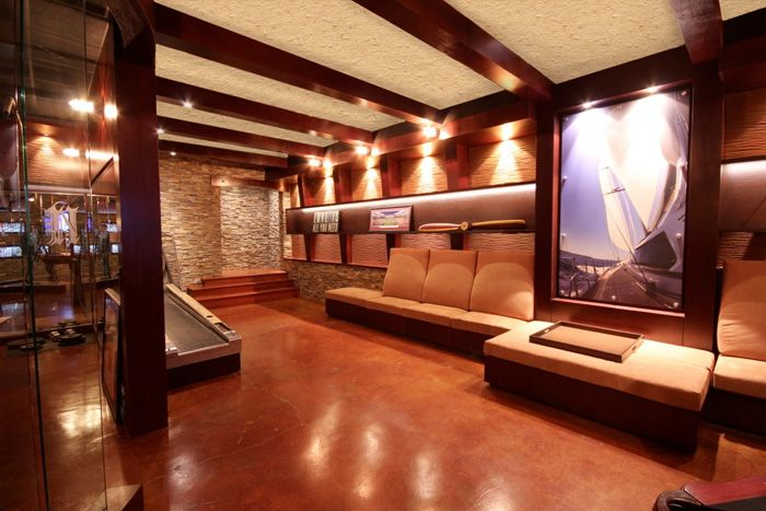 Modern AND Masculine! Very Sexy Man Cave.