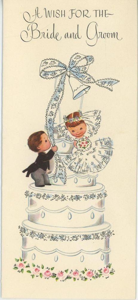 VINTAGE CUTE BRIDE Amp GROOM WEDDING CHILDREN ON WEDDING CAKE ROSES ART PRINT Pinterest