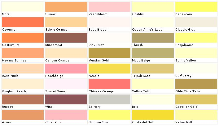 home depot yellow exterior paint swatch palette on home depot paint colors interior id=76594