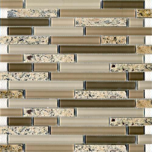 Epoch Tile Desert Gold Random Glass Mosaic Wall Tile At