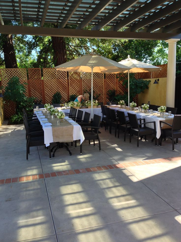 Rehearsal Dinner Table On The Pergola Terrace At The Depot