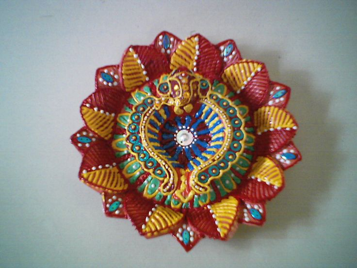 Decorated Deep Plate Earthen Rukhwat Inspirations