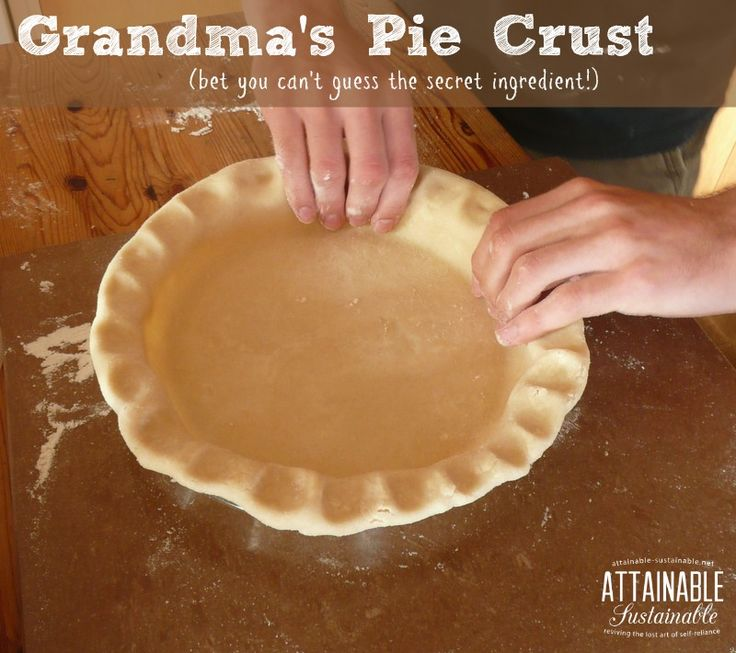 My grandma made a mean pie crust. Happily, I still have a copy of her recipe. Now you can make it, too!