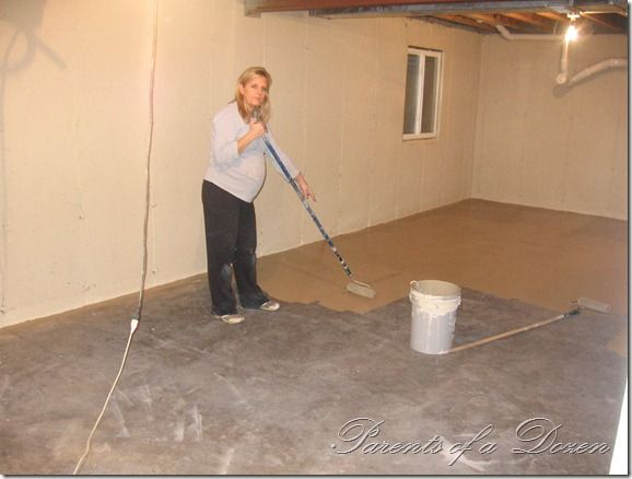 painting an unfinished basement so easy a pregnant woman on paint for basement walls id=25007
