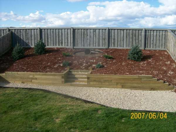 17 best images about wood retaining wall on pinterest on classy backyard design ideas may be you never think id=60316