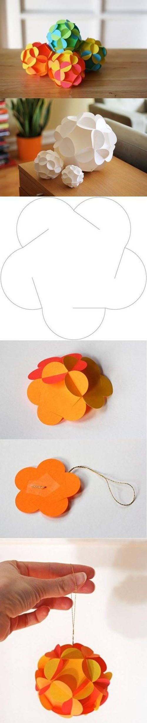 Beautiful paper craft decoration to put around your house, or to use as a party de