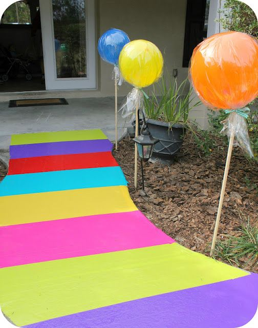Candyland walkway from duct