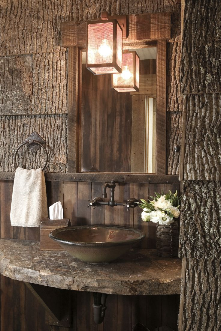 25 Best Ideas About Log Cabin Bathrooms On Pinterest