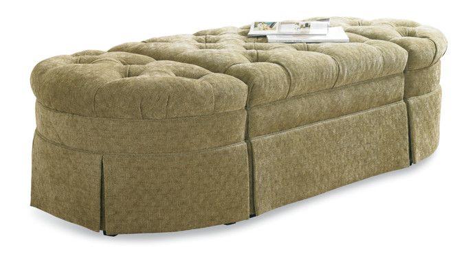 Sherrill Furniture 59065907 Bench Ottoman Traditional
