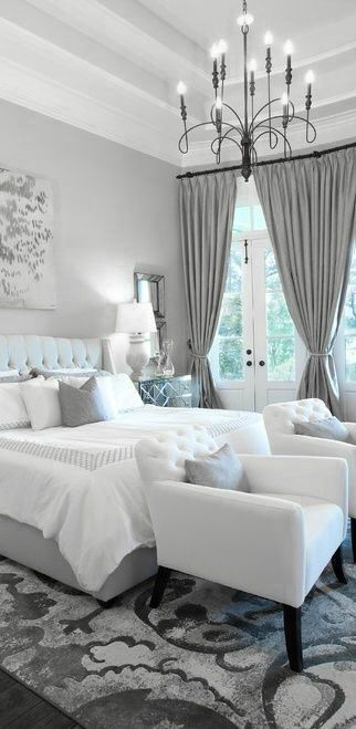 Gray with white bedroom color