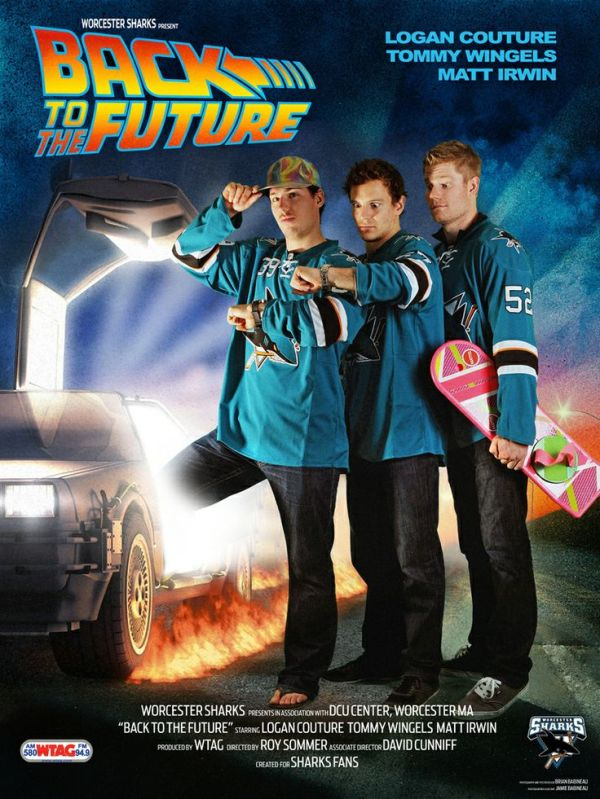 """Back to the Future"" starring @San Jose Sharks players ..."