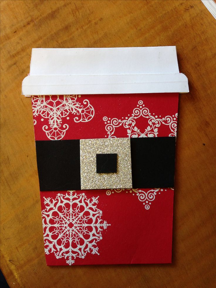 Really cute gift card holder can put a christmas