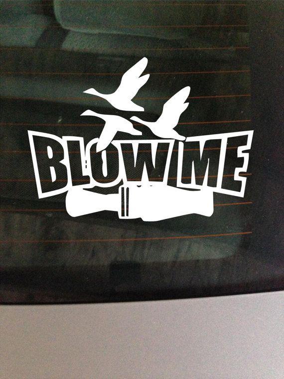 Download Duck call -Blow me- - vinyl window decal / sticker ...