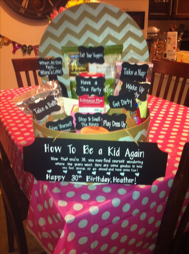 30th birthday present to my best friend how to be a kid