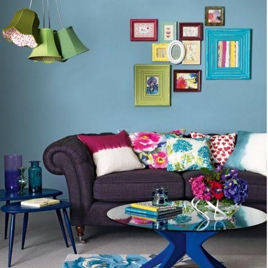 Boho-chic living room: