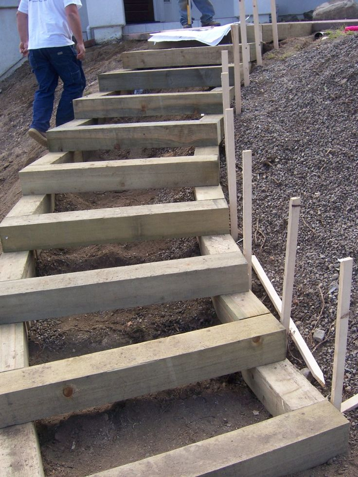1000+ images about Outdoor Wooden Stairs & Pathways on ... on Backyard Stairs Ideas id=85834
