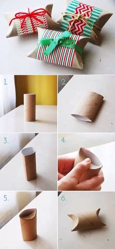 This is the best idea Ive ever seen for empty toilet rolls. Present boxes. How clever.